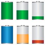 Значки батареи Стоковая Фотография RF