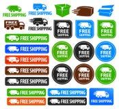 Значки бесплатной доставки Стоковая Фотография RF