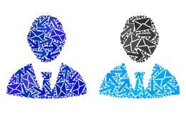 Значки босса мозаики путей почты иллюстрация штока