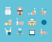 Значки боулинга Бесплатная Иллюстрация