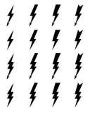 Значки болта освещения Стоковое фото RF