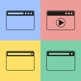 Значки браузера Стоковое Изображение RF