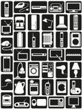 Значки бытовых приборов бесплатная иллюстрация