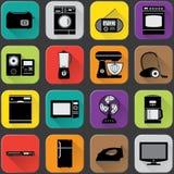 Значки бытовых устройств Стоковые Фото