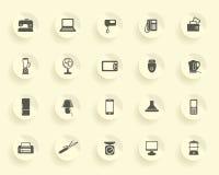 Значки бытовых устройств Стоковое Фото