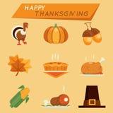 Значки благодарения бесплатная иллюстрация