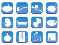 Значки ванной комнаты Стоковое Изображение RF