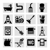 Значки ванной комнаты Стоковые Фотографии RF