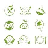 Значки варить и кухни здоровья иллюстрация штока