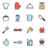 Значки варить и кухни стоковое фото rf