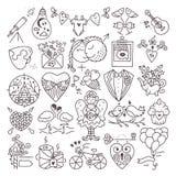 Значки валентинок St Стоковые Фотографии RF