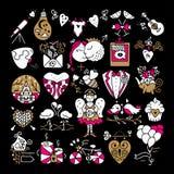 Значки валентинок St Стоковая Фотография