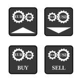 Значки валют Стоковые Фотографии RF