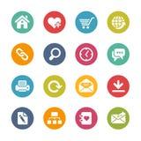 Значки вебсайта и интернета -- Свежая серия цветов Стоковые Изображения RF