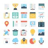 Значки 1 веб-дизайна и вектора развития Стоковое Фото