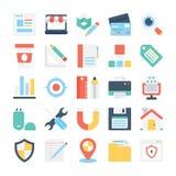 Значки 5 веб-дизайна и вектора развития Стоковое Фото