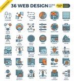 Значки веб-дизайна иллюстрация вектора