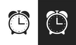 Значки вектора будильника плоские иллюстрация вектора