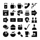 Значки 8 вектора гостиницы & ресторана стоковое фото rf