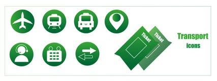 Значки вектора для передвижных применений Купите онлайн билеты Стоковые Изображения RF