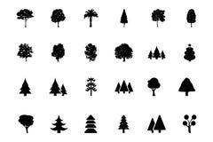 Значки 1 вектора деревьев Стоковые Фото