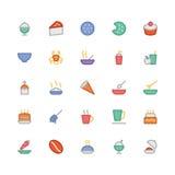 Значки 13 вектора еды Стоковое Изображение RF