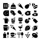 Значки 1 вектора еды Стоковое Изображение