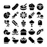 Значки 12 вектора еды Стоковое Изображение RF