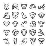Значки 5 вектора животных и птиц Стоковые Изображения RF