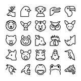 Значки 4 вектора животных и птиц Стоковая Фотография RF