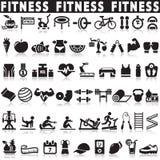 Значки вектора значков фитнеса установленные Стоковые Изображения RF