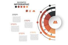 Значки вектора и маркетинга дизайна infographics срока могут быть u Стоковая Фотография