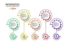 Значки вектора и маркетинга дизайна infographics срока могут быть u иллюстрация штока