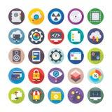 Значки 4 вектора маркетинга Seo и цифров бесплатная иллюстрация
