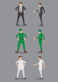 Значки вектора медсестры бизнесмена, солдата и мужчины Стоковые Изображения