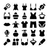 Значки 10 вектора моды Стоковая Фотография RF