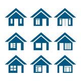 Значки вектора домашние Стоковые Фотографии RF