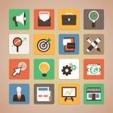 Значки вектора плоские - маркетинг интернета бесплатная иллюстрация