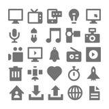 Значки 1 вектора рекламы и средств массовой информации Стоковое Изображение RF