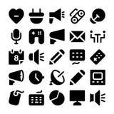Значки 11 вектора связи Стоковые Изображения RF