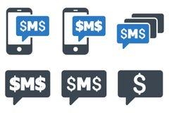 Значки вектора сообщений SMS плоские иллюстрация штока