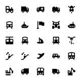 Значки 3 вектора транспорта Стоковые Изображения
