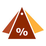 Значки вектора - ярлык с скидкой процента иллюстрация вектора