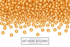Значки вектора 3D Cryptocurrency Bitcoin Стоковое Изображение