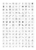 Значки 1 вектора Doodle математики Стоковые Фото