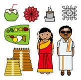 Значки вектора Tamil Nadu иллюстрация штока