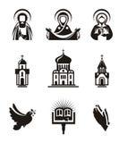 Значки вероисповедания Стоковые Изображения RF