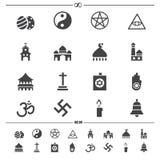 Значки вероисповедания Стоковая Фотография RF