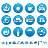 Значки Великобритании Стоковое Изображение RF