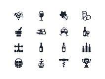 Значки винодельческой промышленности Серия Lyra Стоковые Изображения RF